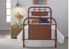 Twin Metal Bed - Orange