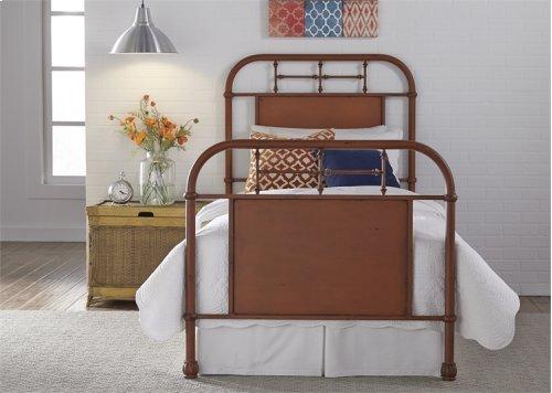 Twin Metal Bed - Orange