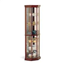 Traditional Medium Brown Curio Cabinet