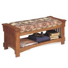 """""""Mission Oak"""" Upholstered Bench"""