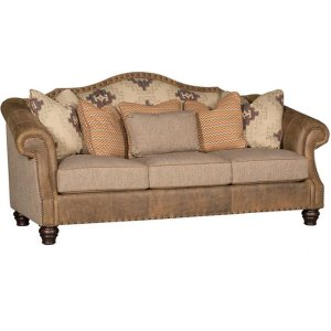 Red Rock Leather/Fabric Sofa