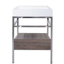 "23"" x 19"" free-standing console with drawer"