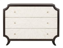 Alina Wood 3-drawer Dresser - Dark Walnut / Bone