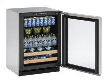 """24"""" Beverage Center Stainless Frame Left-Hand Hinge"""