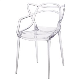 Russell Molded PC Arm Chair, Transparent Crystal