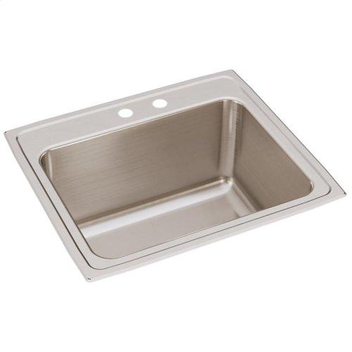 """Elkay Lustertone Classic Stainless Steel 25"""" x 22"""" x 12-1/8"""", Single Bowl Drop-in Sink"""