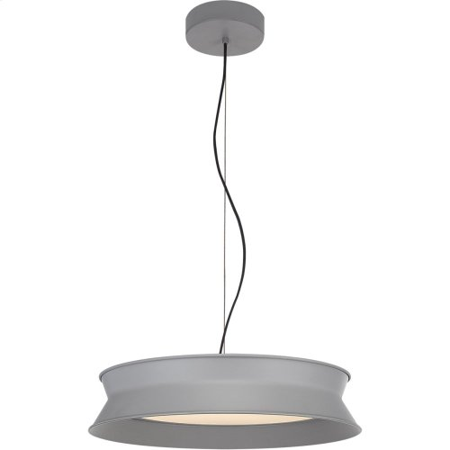 Visual Comfort PB5020STG Peter Bristol 60/40 LED 20 inch Stone Gray Pendant Ceiling Light