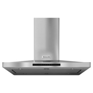 Kitchenaid42'' Island-Mount, 3-Speed Canopy Hood - Stainless Steel