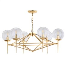 Greyor Chandelier - Gold Shade Color: Clear