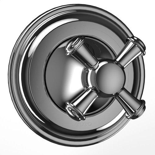 Vivian Three-way Diverter Trim- Cross Handle - Polished Chrome Finish