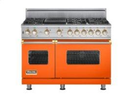 "48"" Custom Sealed Burner Self-Cleaning Range, Propane Gas, Brass Accent"