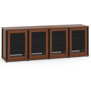 Salamander DesignsSynergy Solution 347, Quad-Width AV Cabinet, Cherry with Black Posts