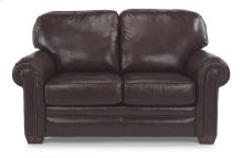 Harrison Leather Loveseat with Nailhead Trim