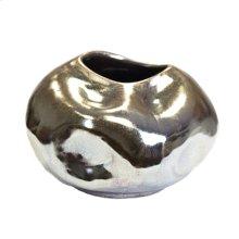 Ceramic Vase, Gun Metal