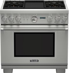 36-Inch Pro Grand Commercial Depth Dual Fuel Range PRD364JDGU