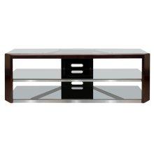 No Tools Assembly Dark Espresso Wood Frame A/V Furniture