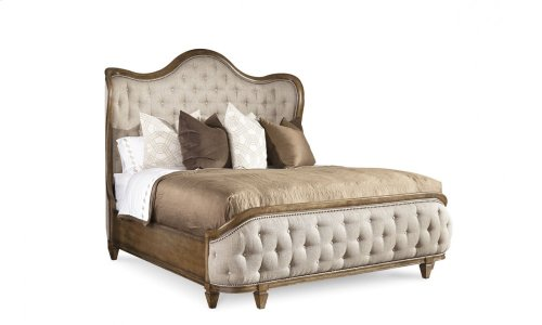 Continental King Shelter Bed - Weathered Nutmeg
