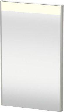 Mirror With Lighting, Concrete Grey Matt Decor