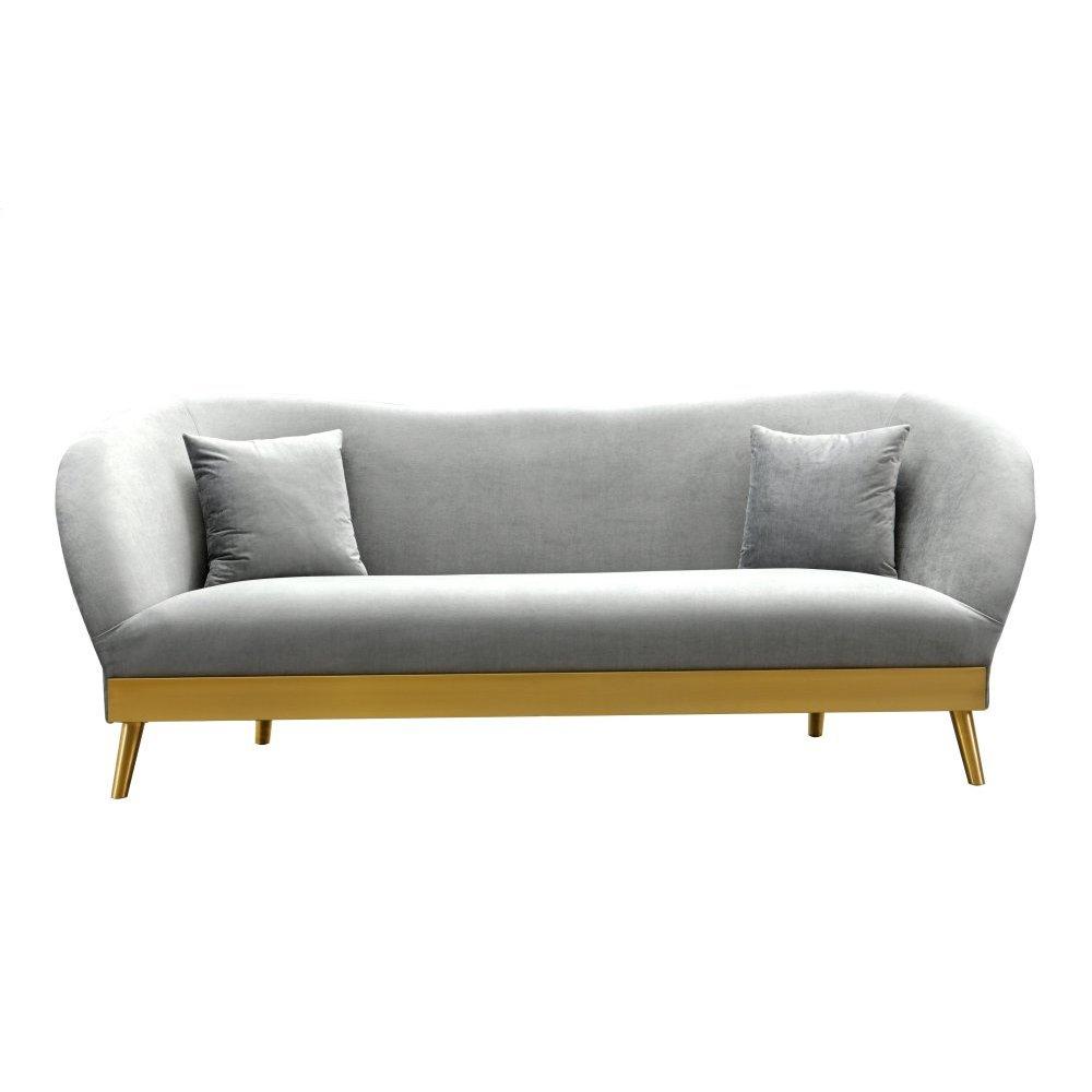 Chloe Grey Velvet Sofa