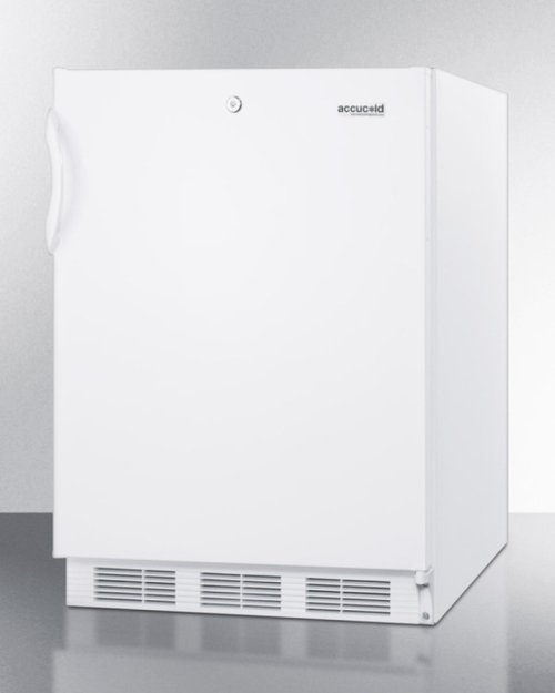 ADA Compliant Built-in Undercounter All-refrigerator for General Purpose Use, With Lock, Auto Defrost Operation and White Exterior