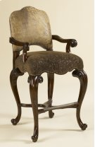 Dark Antique Lido Finished Barstool, Ragtime Leather and Paisley Upholstery Product Image