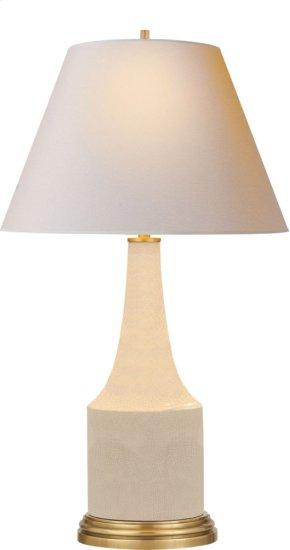 Visual Comfort AH3082TS-NP Alexa Hampton Sawyer 25 inch 100 watt Tea Stain Porcelain Decorative Table Lamp Portable Light in Natural Paper