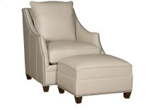 Shannon Leather Chair, Shannon Leather Ottoman
