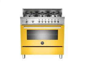 Yellow 36 6-Burner, Gas Oven