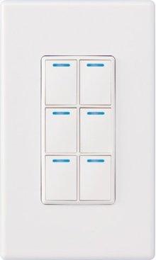 Control4® Wireless 6 Button Keypad