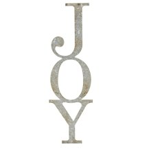 "Galvanized ""Joy"" Vertical Wall Decor."