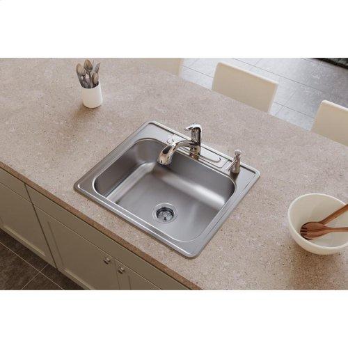 "Dayton Stainless Steel 25"" x 22"" x 8-3/16"", Single Bowl Drop-in Sink"