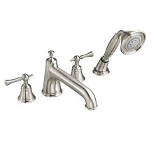 Randall Deck Mount Bathtub Faucet with Hand Shower with Lever Handles - Brushed Nickel
