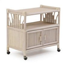 Rattan Cart or TV Stand 446 Whitewash