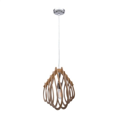 1 Light Pendant in Wodden Finish