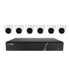 8 Channel Surveillance Kit with Six 5MP IP Cameras, 2TB