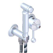 Ensemble Hygienique Comprenant : Mitigeur, Flexible Renforce 1m25, Douchette Hygienique Sans Gachette Sur Sortie Murale Avec Support (disponible En A02, B01,c01, E02, F01, G01,g02, H44) Standard Américain