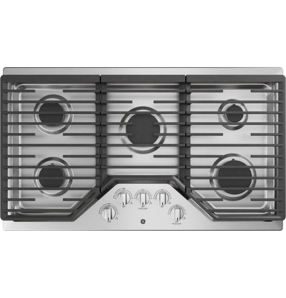 "GE(R) 36"" Built-In Gas Cooktop  STAINLESS STEEL"