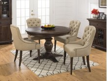 Geneva Hills Bistro Table With Two Upholstered Stools