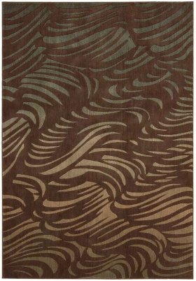 SOMERSET ST73 BROWN RECTANGLE RUG 5'3'' x 7'5''