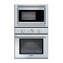 """30"""" PROFESSIONAL SERIES DELUXE STAINLESS STEEL COMBINATION OVEN WITH CONVECTION MICROWAVE AND TRUE CONVECTION OVEN"""