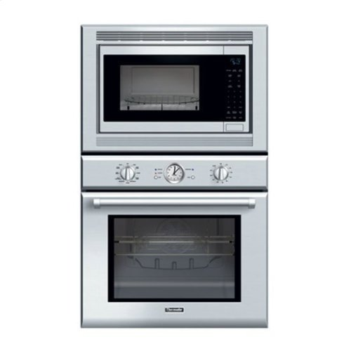 30 Professional Series Deluxe Stainless Steel Combination Oven With Convection Microwave And True Thermador Logo