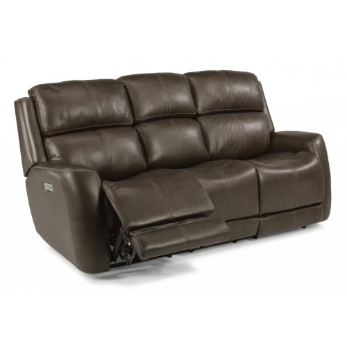 Zelda Leather Power Reclining Sofa with Power Headrests
