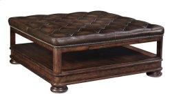 Normandie Manor Cocktail Ottoman in Normandie Manor Cafe Brown (317)