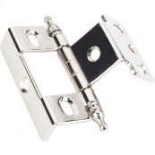 "3/4"" Frame x 3/4"" Door Flush Hinge Nickel."