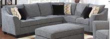 2-pc Set-left Side Facing Sofa W/2 Pillows-rsf Corner Sofa W/4-pillows-gray