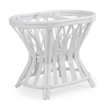 Rattan Oval Dining Table Base in White 8846
