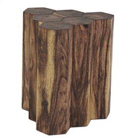 Gannon 6 Logs Side Table, Natural