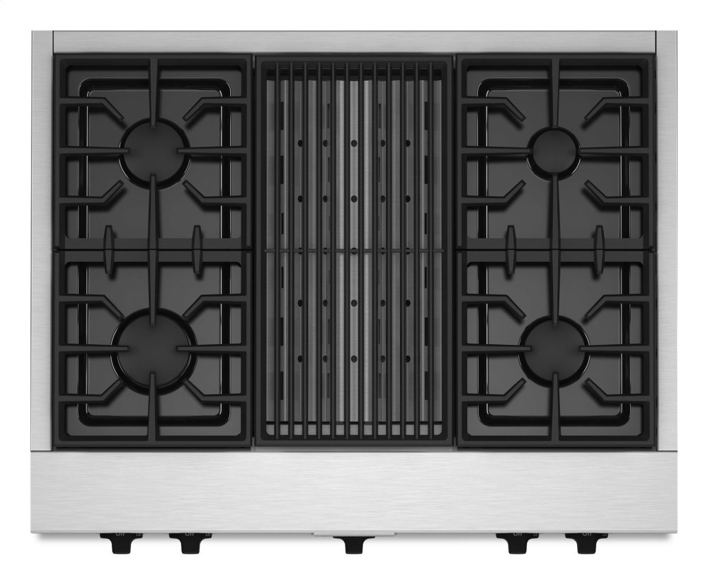 Kitchenaid 36 Commercial Style Gas Cooktop With Grill