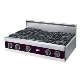 "Plum 36"" Open Burner Rangetop - VGRT (36"" wide, four burners 12"" wide char-grill)"