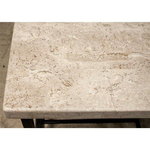 Capri - Coffee Table - Alabaster Travertine Finish